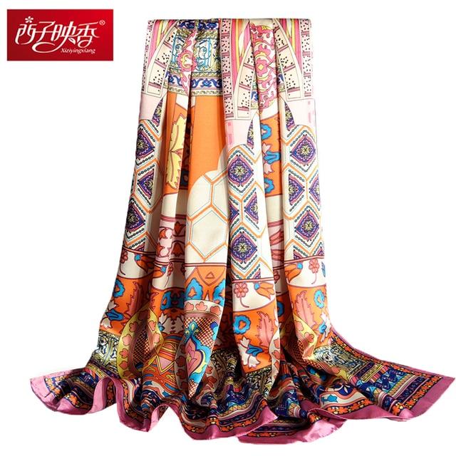 Echarpes Foulard Bandana Scarf 100 Pure Silk Scarves And Wraps