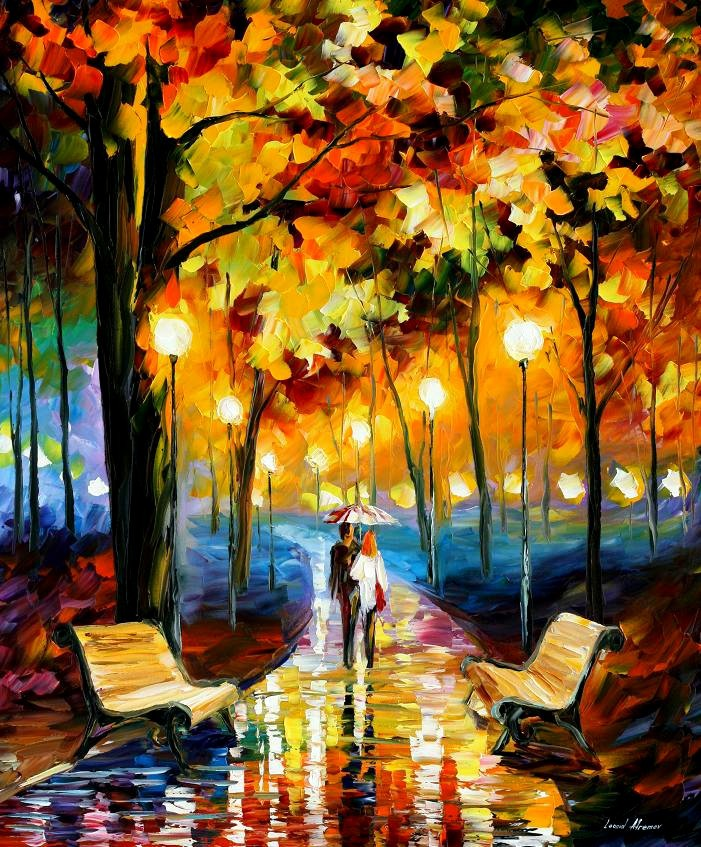 beautiful Painting Home Decor anticipation of happines Colorful oil paintings Canvas Modern Fine Art High quality Hand painted