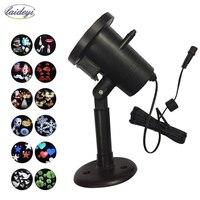 LAIDEYI 12 Patterns Christmas Laser Lamp Outdoor Waterproof Disco DJ Party Light Home Garden Star Light