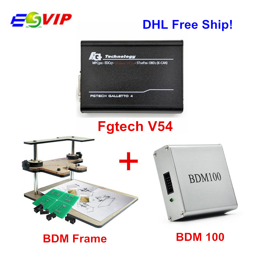 Master V54 FGTECH Galletto 4 Multi-Language BDM TriCore +BDM100 V1255 +BDM Frame Full Adapter ECU Chip Tuning Tool Fg Tech DHL unlimited tokens ktag k tag v7 020 kess real eu v2 v5 017 sw v2 23 master ecu chip tuning tool kess 5 017 red pcb online