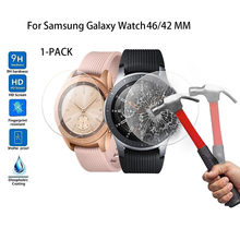 Hot Product 1-PACK Tempered Glass Screen Protector For Samsung Galaxy Watch 46/42 MM wearable devices smartwatch relogios(China)