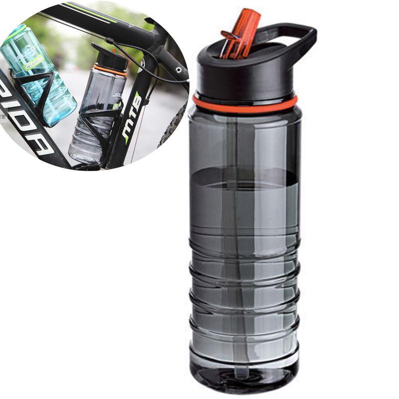 HTB1Kb6SXJzvK1RkSnfoq6zMwVXaA 750ML Outdoor Water Bottle Flip Tritan Straw Drinks Water Bottle Bike Drink Bottle  with Lid Hiking Camping Plastic water cup