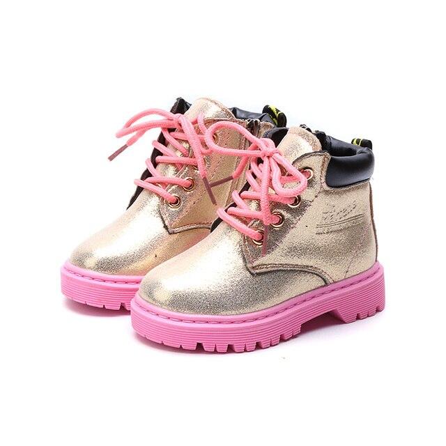 Детские сапоги из искусственной кожи Детская обувь сапоги для девочек девушки зимние ботинки поездка на всаднике Zip резиновая плоская подошва зимние сапоги дети