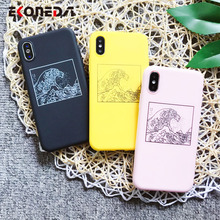 EKONEDA Great Wave off Kanagawa Case For iPhone 7 Plus 6 6S 8 Plus Case Silicone Soft Back Cover For iPhone X XS Max XR Case