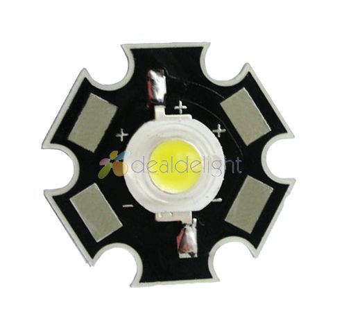10PCS 3W Cool White 12000k High Power LED Bead Emitter DC3.6-3.8V 700mA 160-180LM with 20mm Star Platine Base