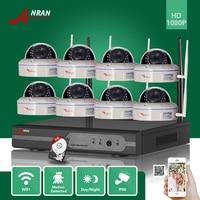 ANRAN CCTV 8CH P2P 1080P WIFI NVR 30 IR Outdoor Vandal Proof Dome Video Wireless IP