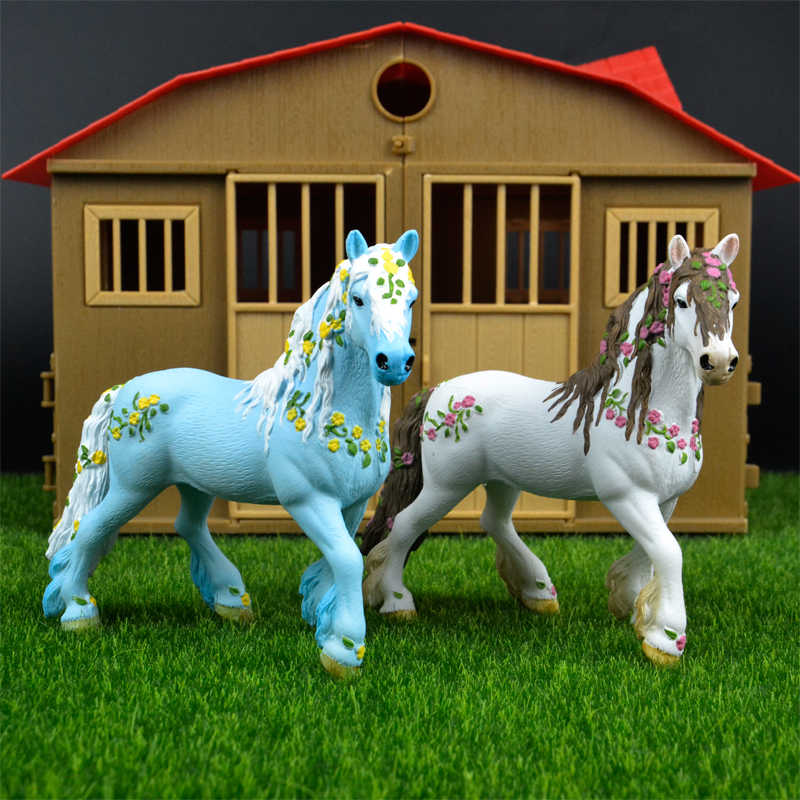 Original genuine fairy tale mythical animal Elf Fairies horse figure model Wild figures kids educational toys figurine