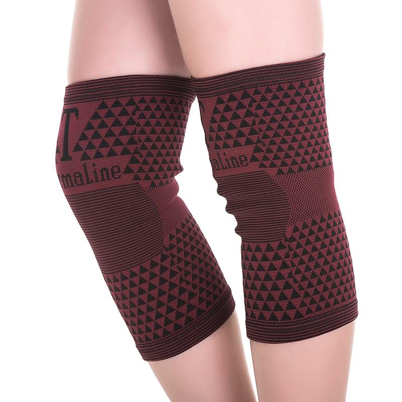 цена на High elastic Far Infrared breathable bamboo charcoal knee support tourmaline magnetic knee brace pad patella