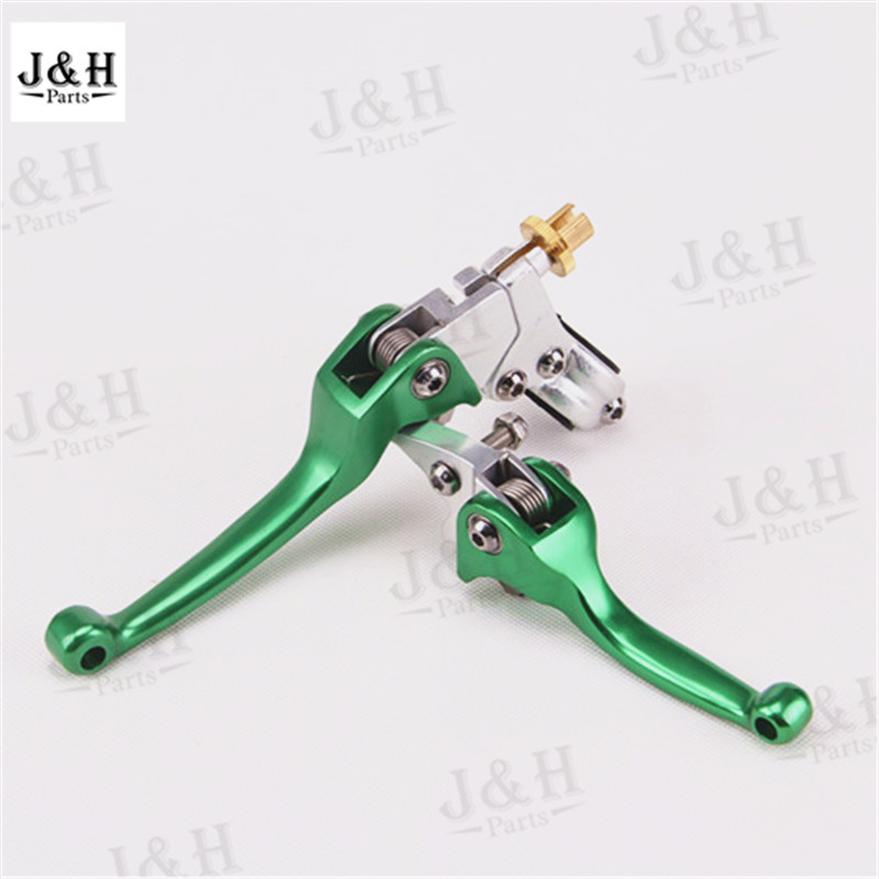 Free shipping Aluminum ASV Clutch & Brake Folding Lever Fit Most Motorcycle ATV Dirt Pit Bike WR KLX CRF YZF RMZ green alloy aluminum clutch lever brake lever fit crf klx apollo xmotos kayo pit dirt bike parts free shipping xmotos abm racer