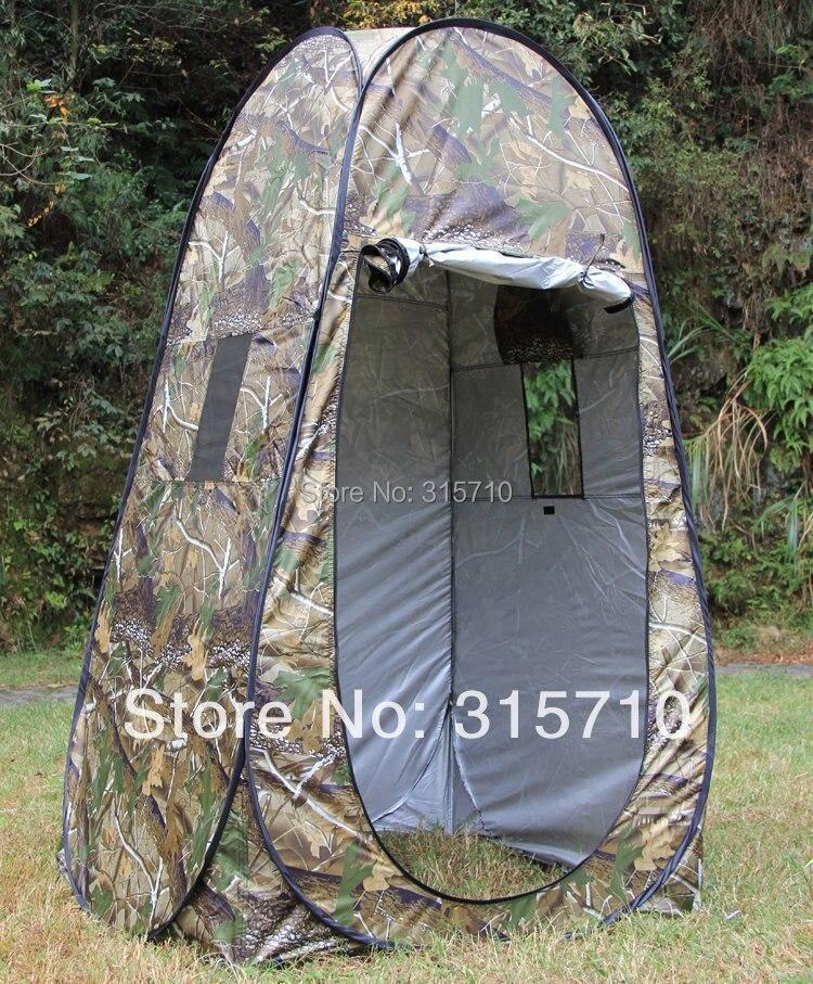 Портативный конфиденциальности Душ Туалет Кемпинг Pop Up Палатка камуфляж/УФ функция Открытый туалетный палатки/фотографии палатка