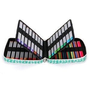 Image 2 - Korea Multifunction 150 Slot School Pencil Case & Bags Large Capacity Artist Canvas Pen Curtain Box Students Gifts Art Supplies