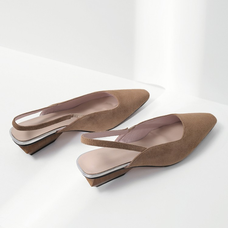 MLJUESE 2018 mujeres sandalias chico de color albaricoque zapatos cuadrado del dedo del pie de las playas sandalias vestido de fiesta boda tamaño 33 43-in Sandalias de mujer from zapatos    1
