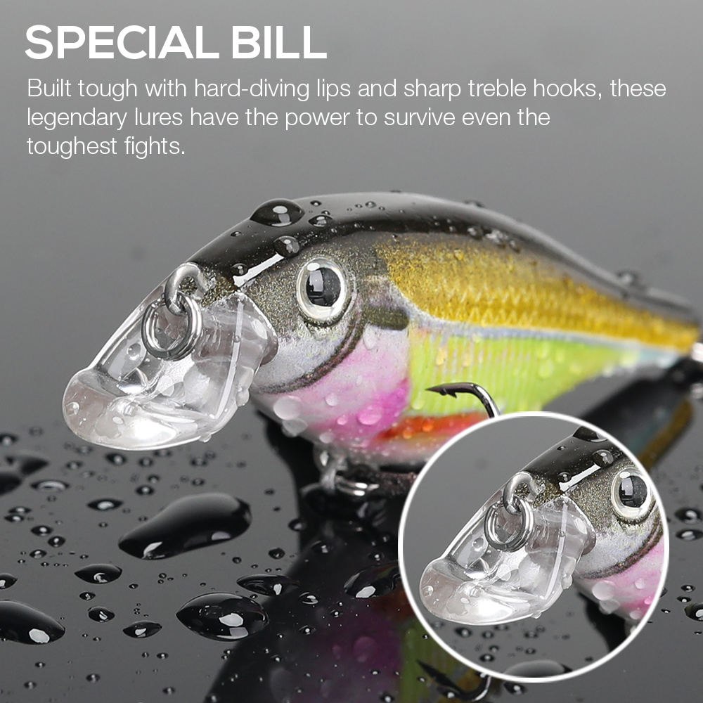 Image 4 - VTAVTA Fishing Lure Hard Bait 7.5cm 11g Wounded Minnow Wobblers Crankbait Peche Bass Artificial Baits Pike Carp Lures Swimbait-in Fishing Lures from Sports & Entertainment