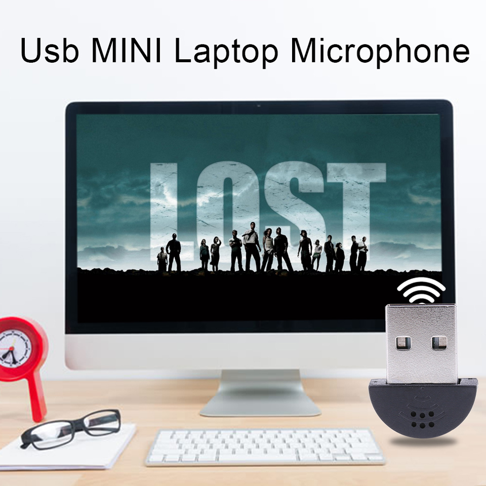 NEW Super Mini USB 2.0 Plug Microphone MIC Recording Audio Adapter for PC Laptop
