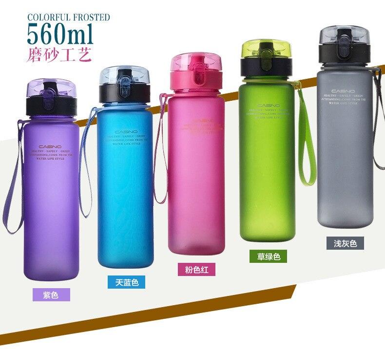 Рождественский подарок бутылка 400 мл 560 мл тур Открытый Спорт школы герметичное уплотнение Велосипедный спорт бутылка для воды Пластик