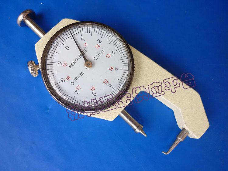 Pocket Pin Type Thickness Special Measuring Gauge Caliper 0-20mm hole measuring 10 54mm x 50mm pin gage gauge w plastic cylindrical box