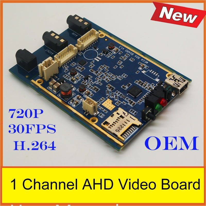 2018 HOT SALE1 Channel AHD DVR Video Board support 128GB