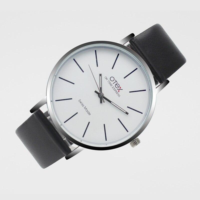 Watches Men Luxury original brand OTEX Sport Watches men Fashion wristwatch  waterproof Male leather Quartz watch