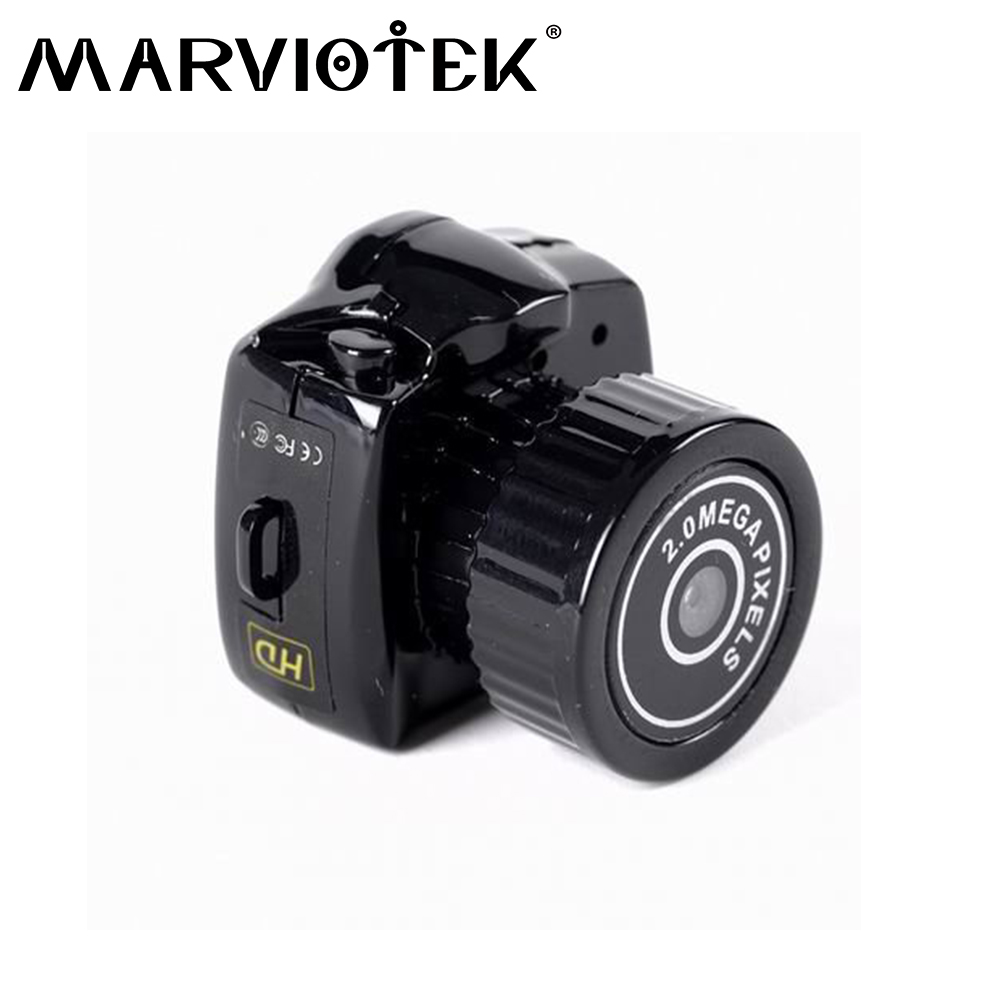 Micro portable HD CMOS 2 0 megapixel up to 32G memory card mini camera sport DV