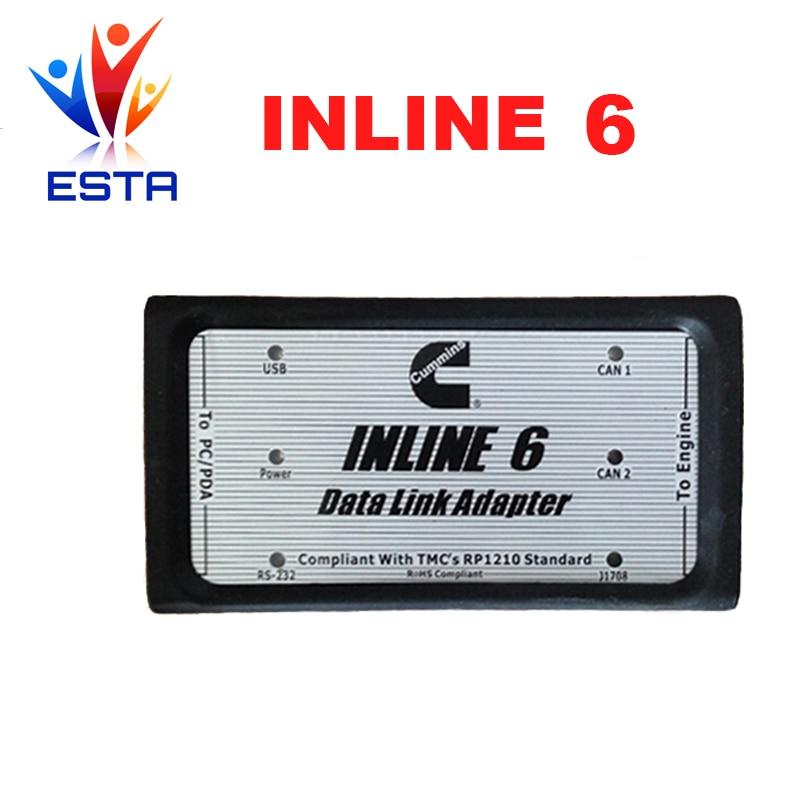 Цена за INLINE 6 Канала Передачи Данных Адаптер inline6 Heavy Duty Диагностический Инструмент Сканер Полный кабель Грузовик Диагностический интерфейс INLIEN5 UPDATE TOOL