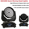 LED Moving Head Zoom 36X18W RGBWA-UV 6IN1 LED Wash/Zoom огни DMX512 Moving Head Wash огни Профессиональный DJ Party Stage Lights
