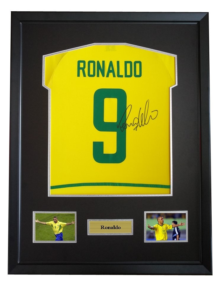 hot sale online 7f405 3aeae US $750.0 |Cristiano Ronaldo signed autographed soccer shirt jersey come  with Sa coa framed Brazil-in Frame from Home & Garden on Aliexpress.com |  ...