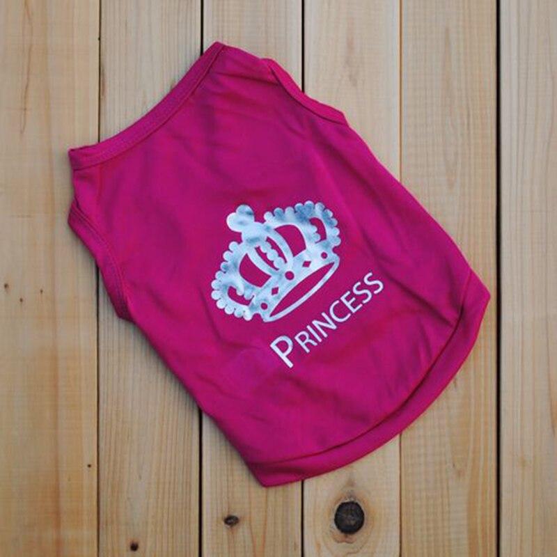 Лидер продаж милый маленький Пудель чашка собака одежда футболка с принтом Летняя майка Princess Crown Стиль розовый ...