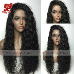 Hot afro loose curly synthetic lace front wig natural black heat resistant fiber hair wig curly.jpg 250x250