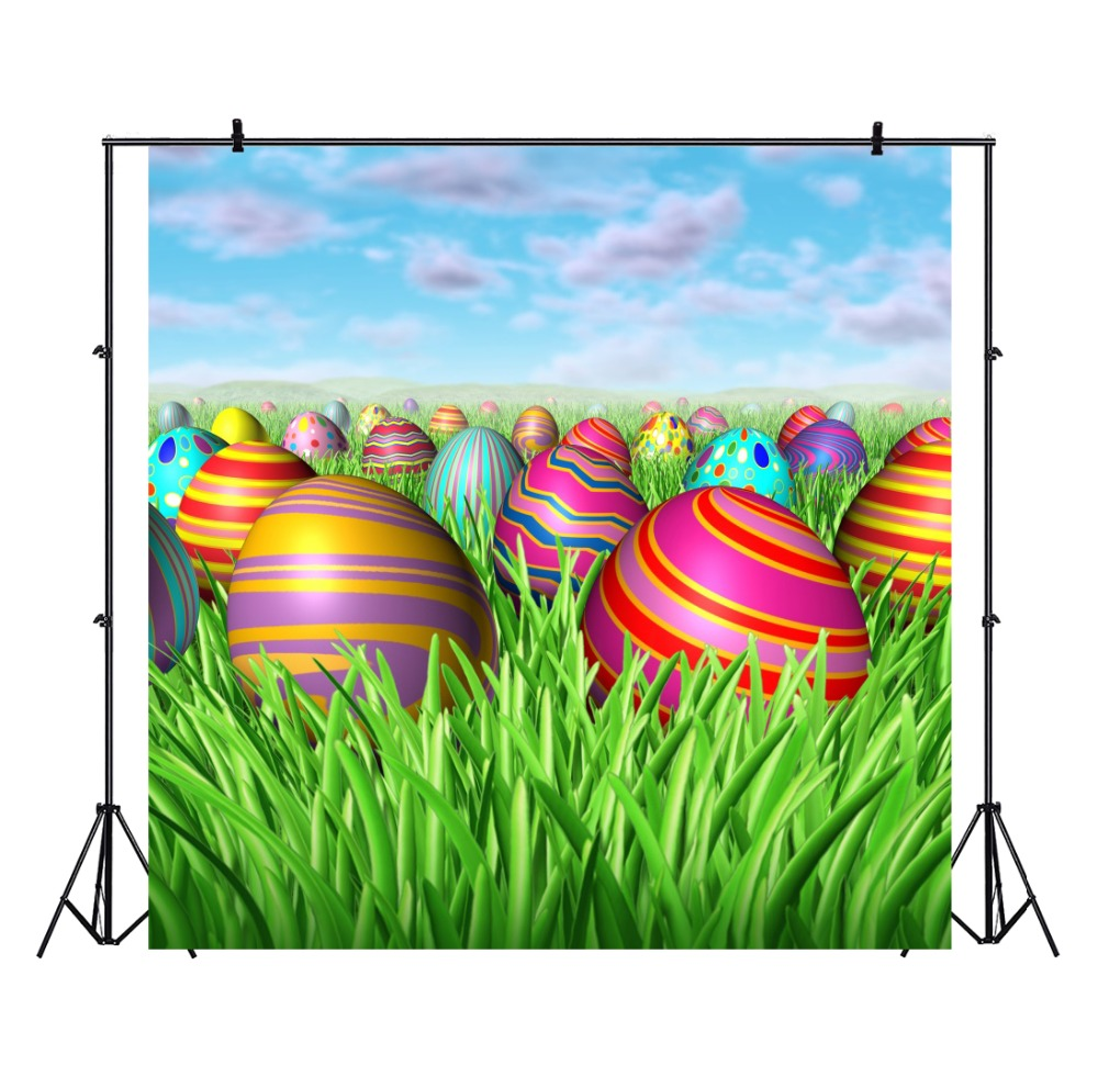 Laeacco Field Colorful Egg Easter Baby Newborn Scene Photography Backgrounds Customized Photographic Backdrops For Photo Studio in Background from Consumer Electronics
