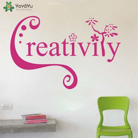 YOYOYU Wall Decal Inspirational QuotesCreativity Vinyl Stickers Office Bedroom Wallpaper Removable Interior Home DecorSY990