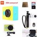 Câmera ação xiaoyi mi xiao yi wifi esporte câmera 1080 p 16mp 60fps wi-fi ambarella bluetooth à prova d' água dv cam originais xiaomi yi