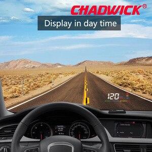 Image 2 - New CHADWICK Car HUD Head Up Display Universal Auto Vehicle Speeding Warning MPH Head Up Display Projector A200 OBD2 accessories