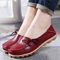 2016 Novas Mulheres De Couro PU Flats Condução Mocassins Loafers Selvagens mulheres Sapatos Casuais Lazer Concise Flat shoes Em 15 Cores ST179