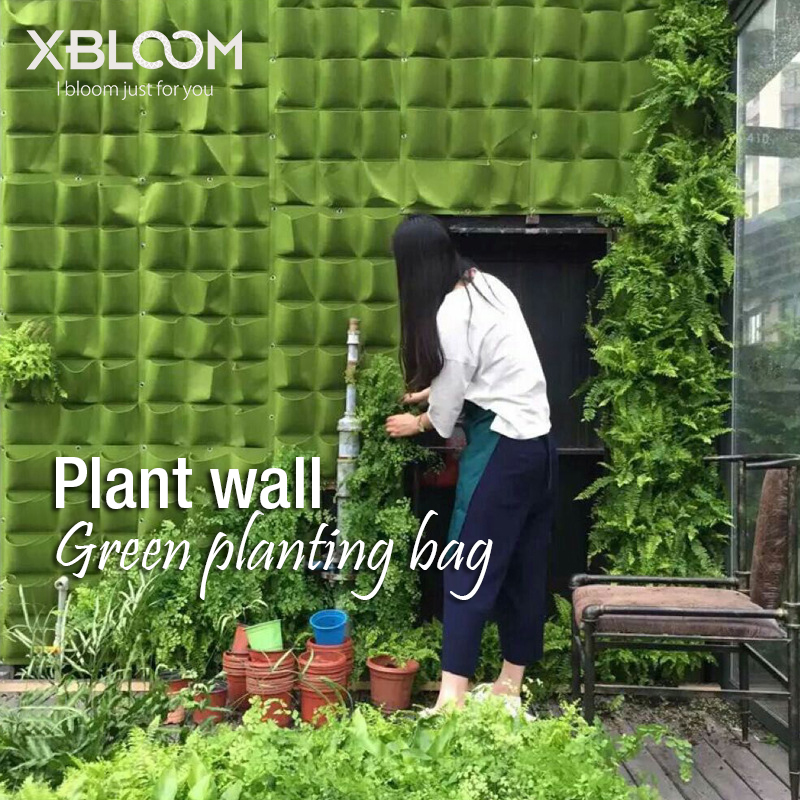 Vertical Greening Plant Wall Hanging Type Flowerpot Non-woven Felt Planting Bag Plant Bag Stereo Greening Wall Bag