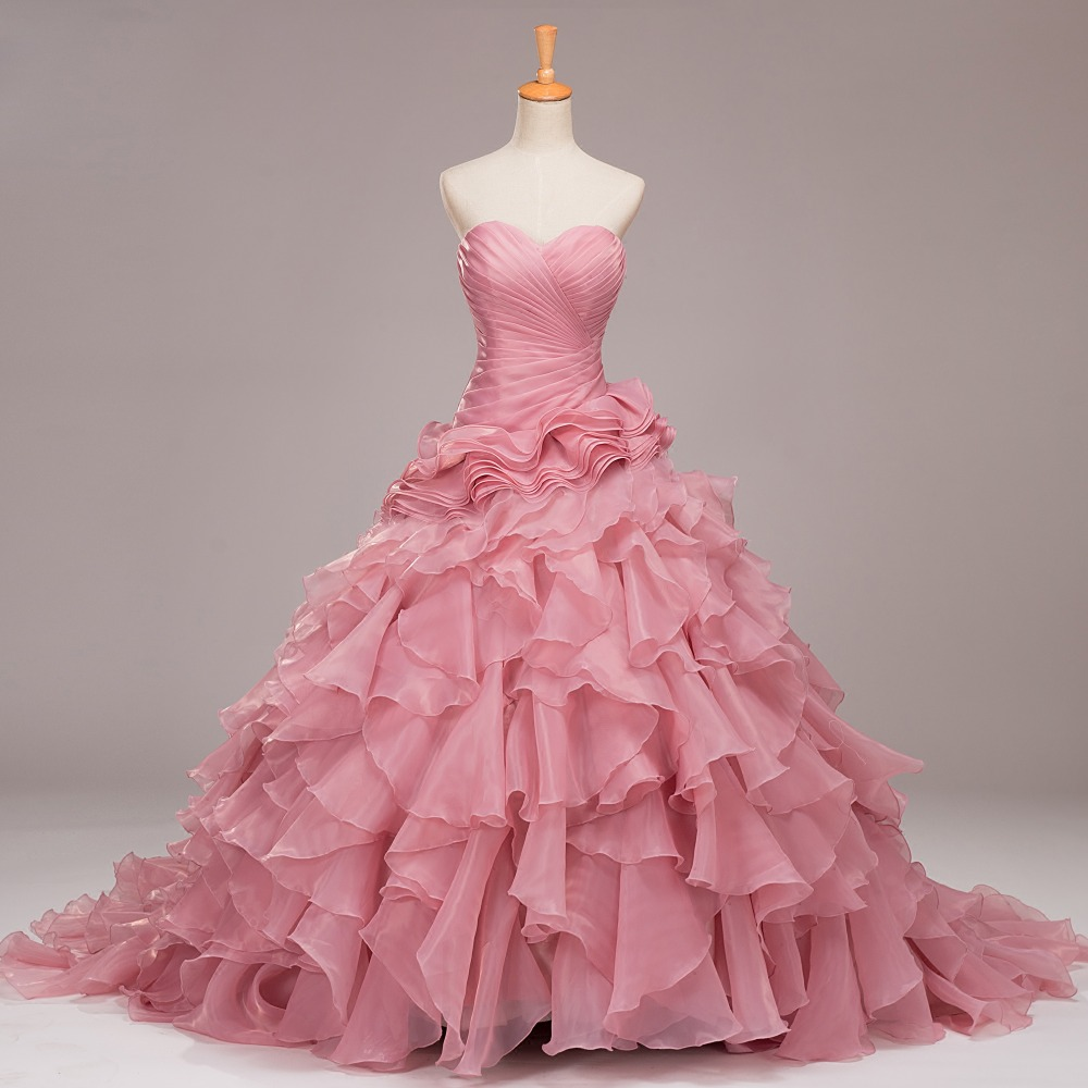 Vistoso Vestido De Novia Corto Con El Tren De Largo Ornamento ...