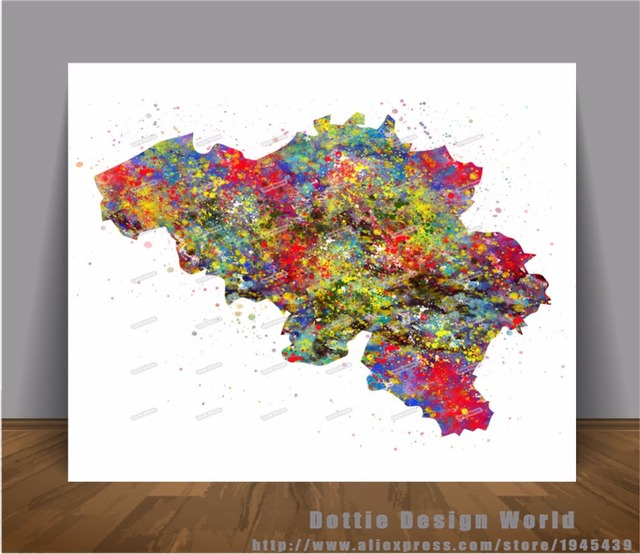 Original watercolor belgium map canvas painting world map wall art original watercolor belgium map canvas painting world map wall art poster print pictures home decor wall gumiabroncs Choice Image