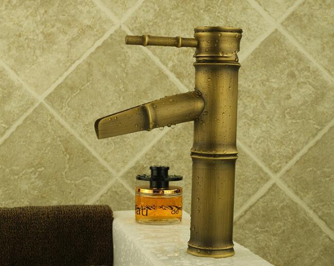 Robinet de salle de bain de haute qualité Antique bronze finition robinets de bassin mélangeur mitigeur lavabo fournitures pour la maison