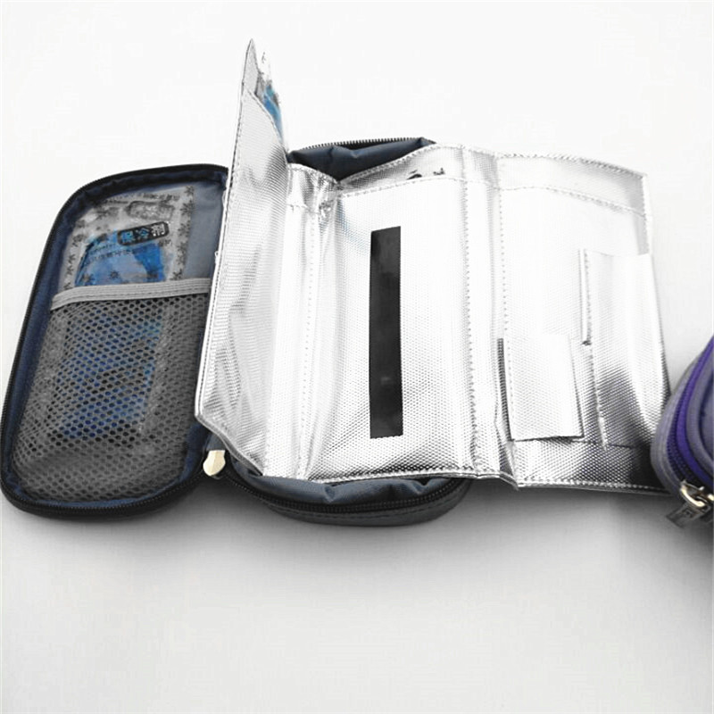 Insuline Bag Portable Insulated Cooler Bag Diabetic Insuline Voyage Case Cooler Box 4pcs Ice Gels With Temperature Display Bar