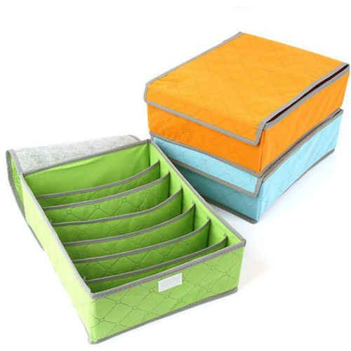 Fordable 30 เซลล์ไม้ไผ่Tiesถุงเท้าตู้ลิ้นชักตู้เก็บลิ้นชักจัดเก็บกล่องGary