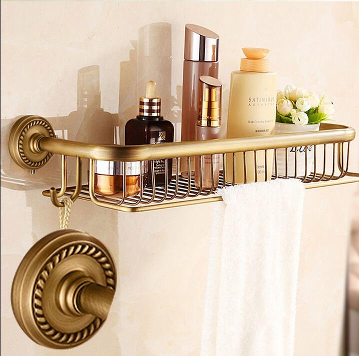 High quality New Arrivals total brass antique bathroom shelves with towel bar bathroom shampoo holder bathroom accessories new high quality comfortable face towel hand towel 3 colours