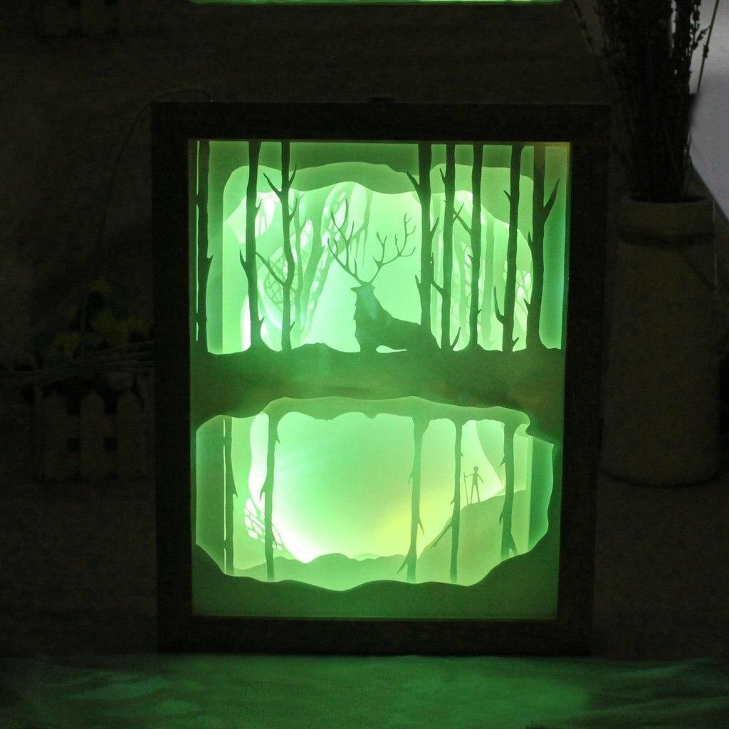 Luce e ombra di arte Del Capretto Del Fumetto luce 3D intagliato lampada da parete Della Novità di Carta di taglio luci LED illuminazione notturna Complementi Arredo Casa IY804017 12 - 4
