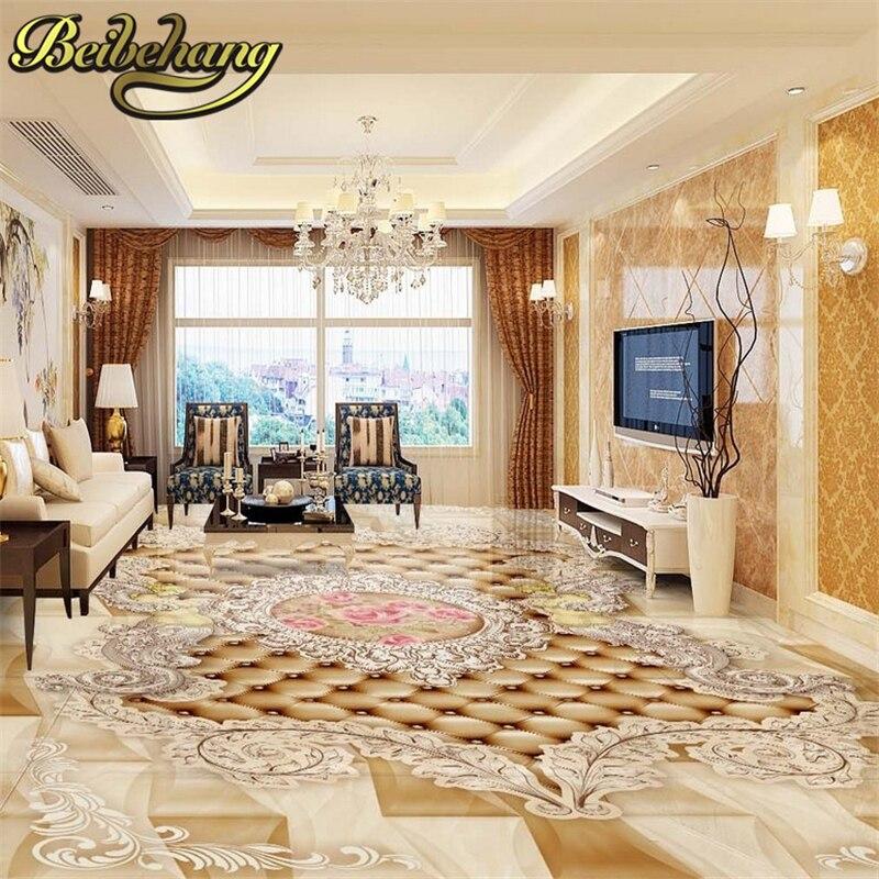 Aliexpress Com Buy European Style 3d Floor Tiles Mural: Beibehang Custom European Pattern Angel Rose Floor Mural