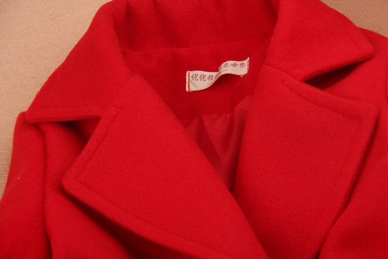 d6bbf42c038e8 Filles hiver manteaux 2019 enfants vêtements enfants vêtements filles laine  manteau laine mélanges cachemire filles vêtements avec ceinture âge 2 16Y  dans ...