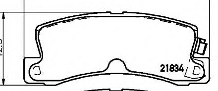 ᑐPF-1321 brake pads pads CELICA/COROLLA/LEXUS RX/AVENSIS