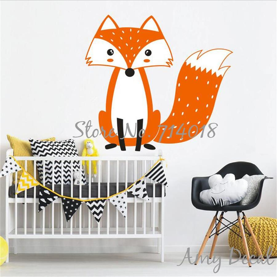 Online shop cute multicolor woodland fox wall decal woodland online shop cute multicolor woodland fox wall decal woodland animal nursery decal cute fox wall sticker for kids room vinyl murals a808 aliexpress mobile amipublicfo Gallery