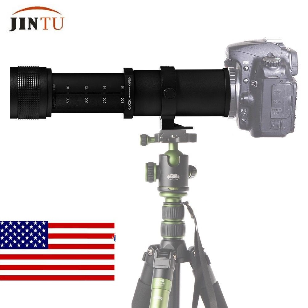 JINTU 420-800mm F/8.3-16 TOP Messa A Fuoco Manuale Teleobiettivo Lens per Nikon D3000 D3200 D5000 d5100 D610 D5500 D5300 D3300 D3400 D7200