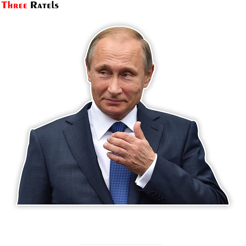 Three Ratels LCS045# 14.3x17cm Putin Colorful Car Sticker Funny Car Stickers Styling Removable Decal