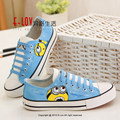 Fancy cool male cartoon anime figure despicable me minion shoes couples lovers hand painted shoe boys and men casual flat shoes