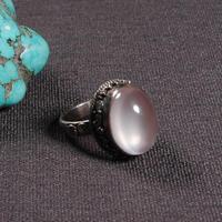 #8 ручной работы непальская 925 Серебряное кольцо Тибетский кольцо из стерлингового серебра 925 Серебряная роза богемское кольцо