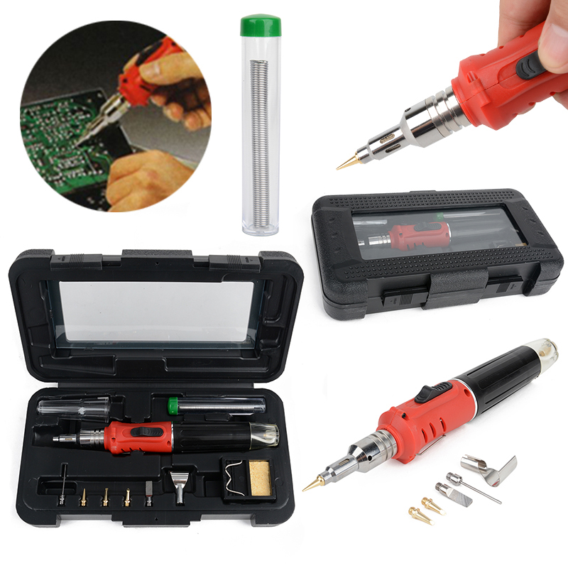 10in1 Auto Professional Gas Soldering Iron Kit Welding Torch For Soldering Irons Tools Mayitr